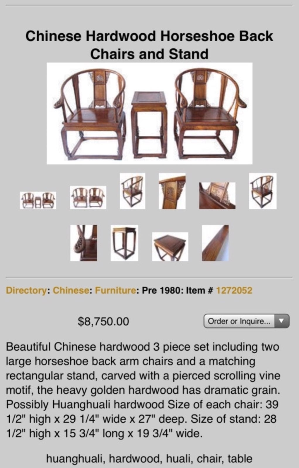 vintage chinese style furniture