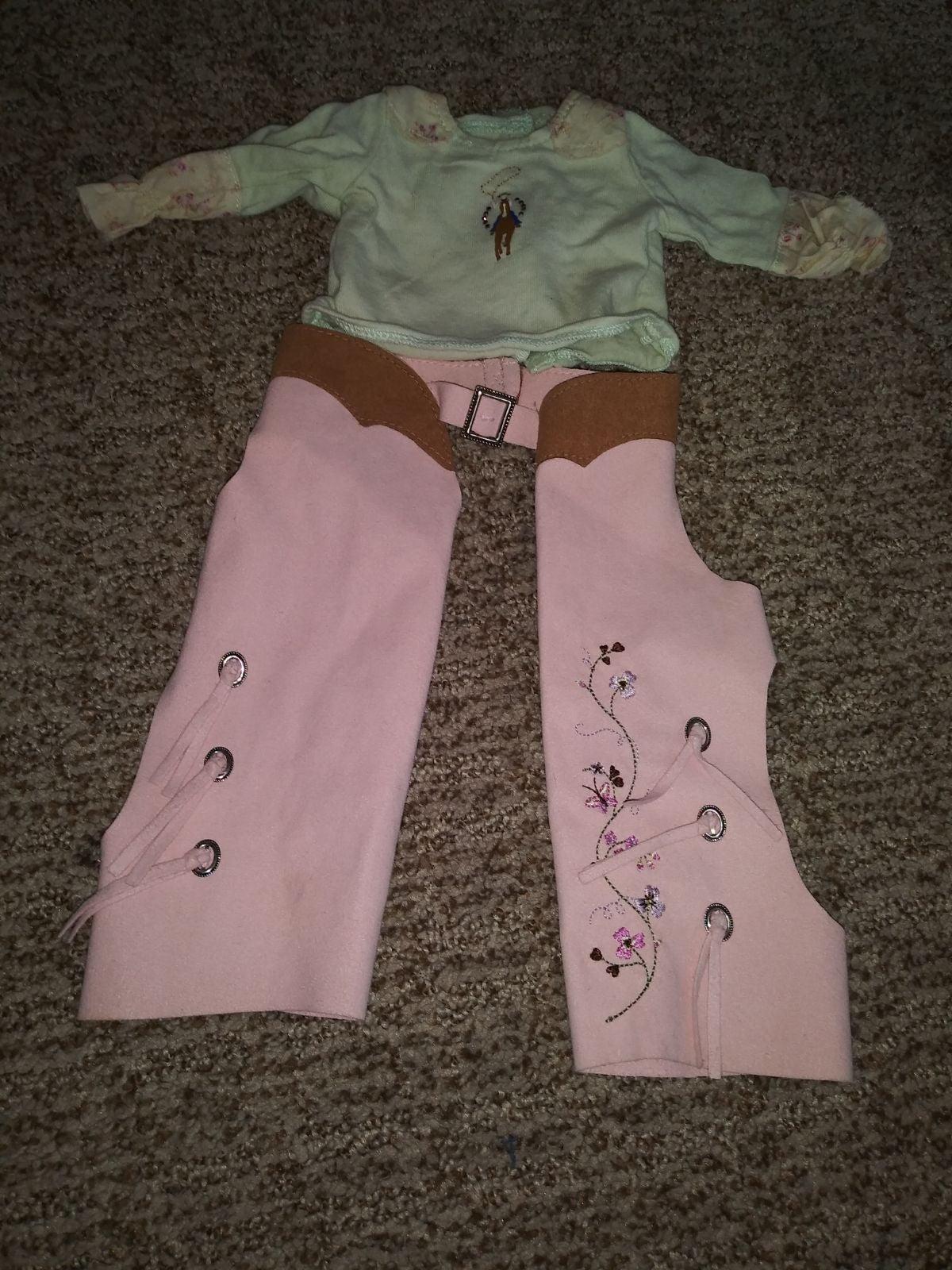 American girl Nikki's Chaps And Shirt