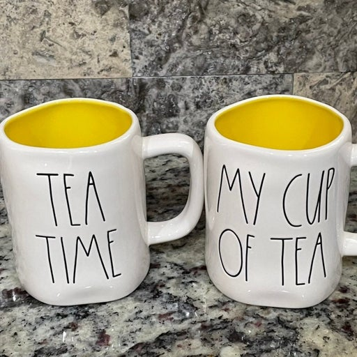 Rae Dunn Tea Time and My Cup Of Tea Mugs