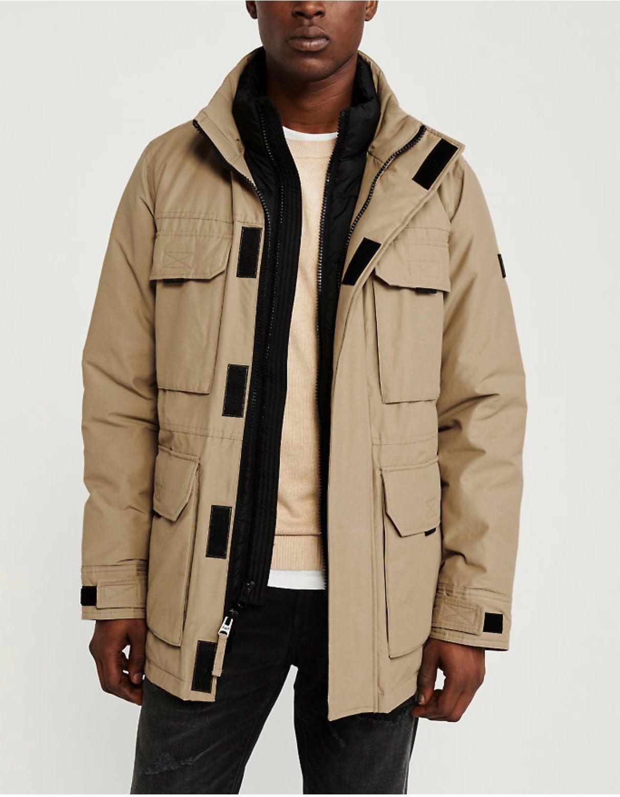ABERCROMBIE puffer mock jacket