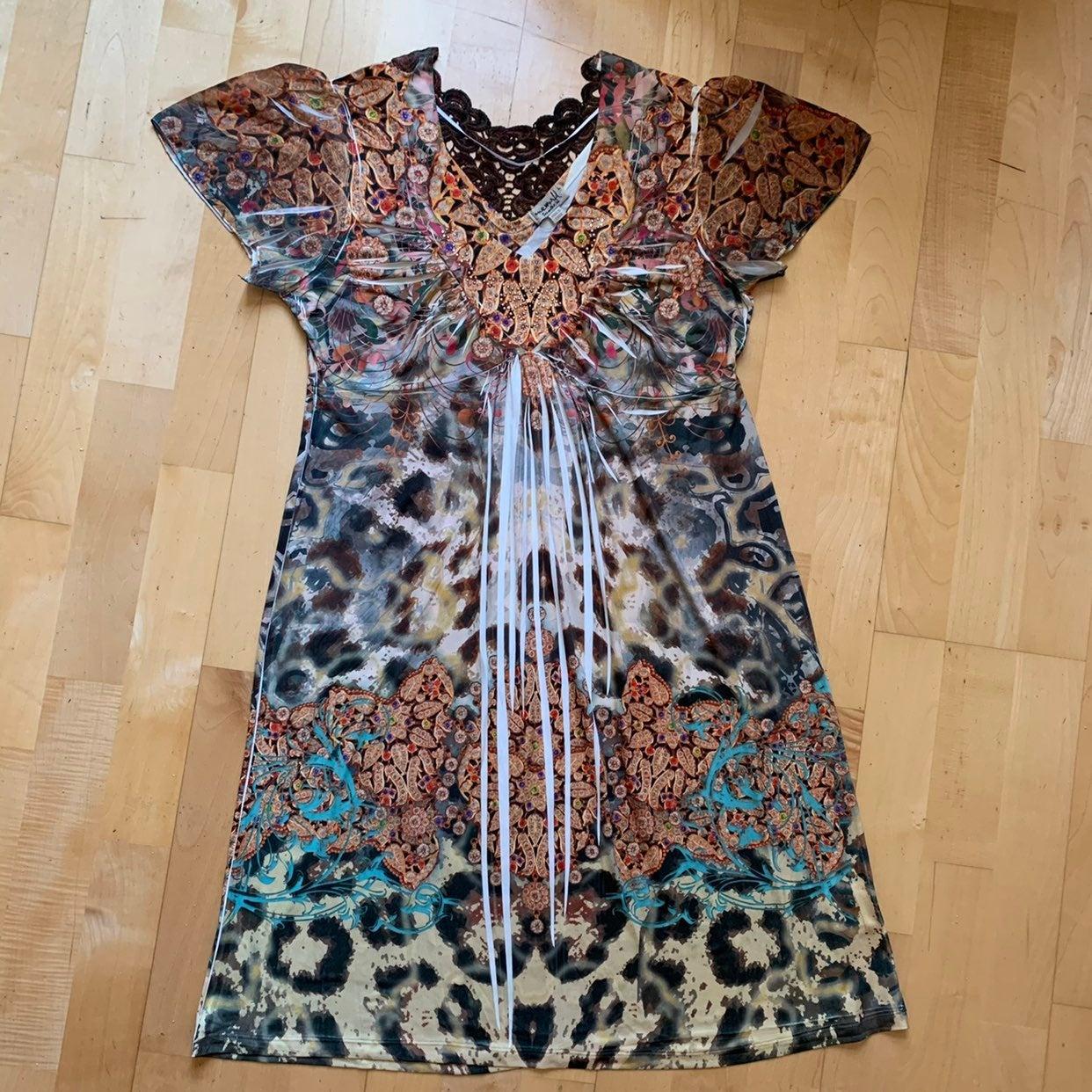 One World Cheetah and Gems Dress