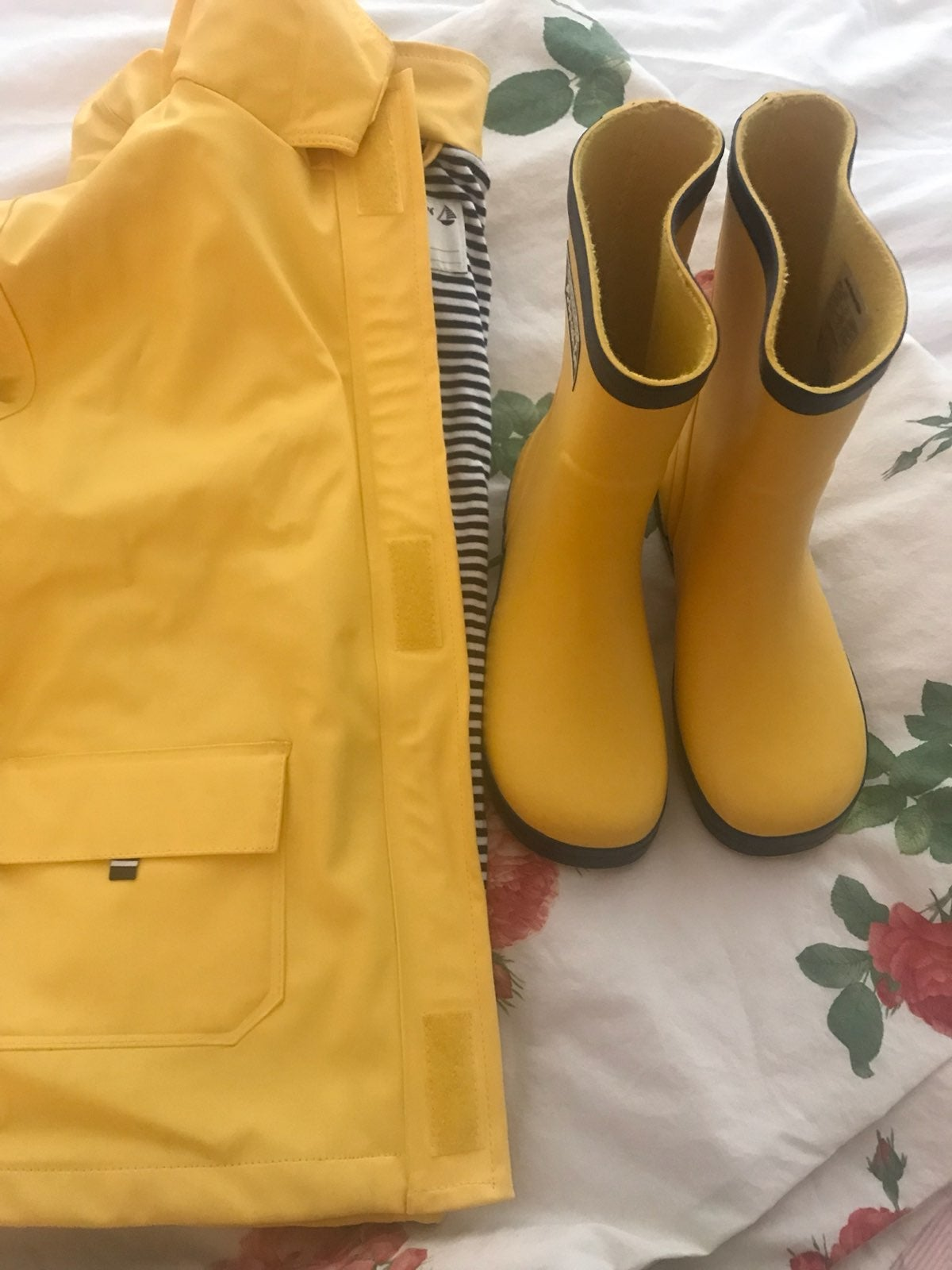 Jojo Maman Fisherman Raincoat +Boots 4 5