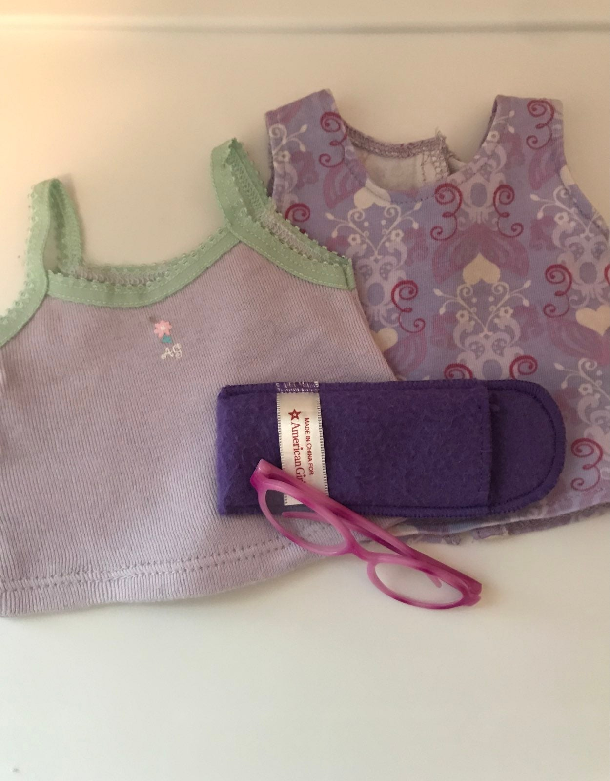 AG Purple CAMI tank top and glasses