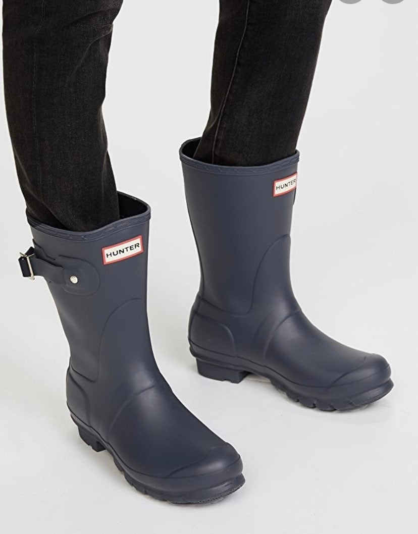 Hunter boots size 7 and socks