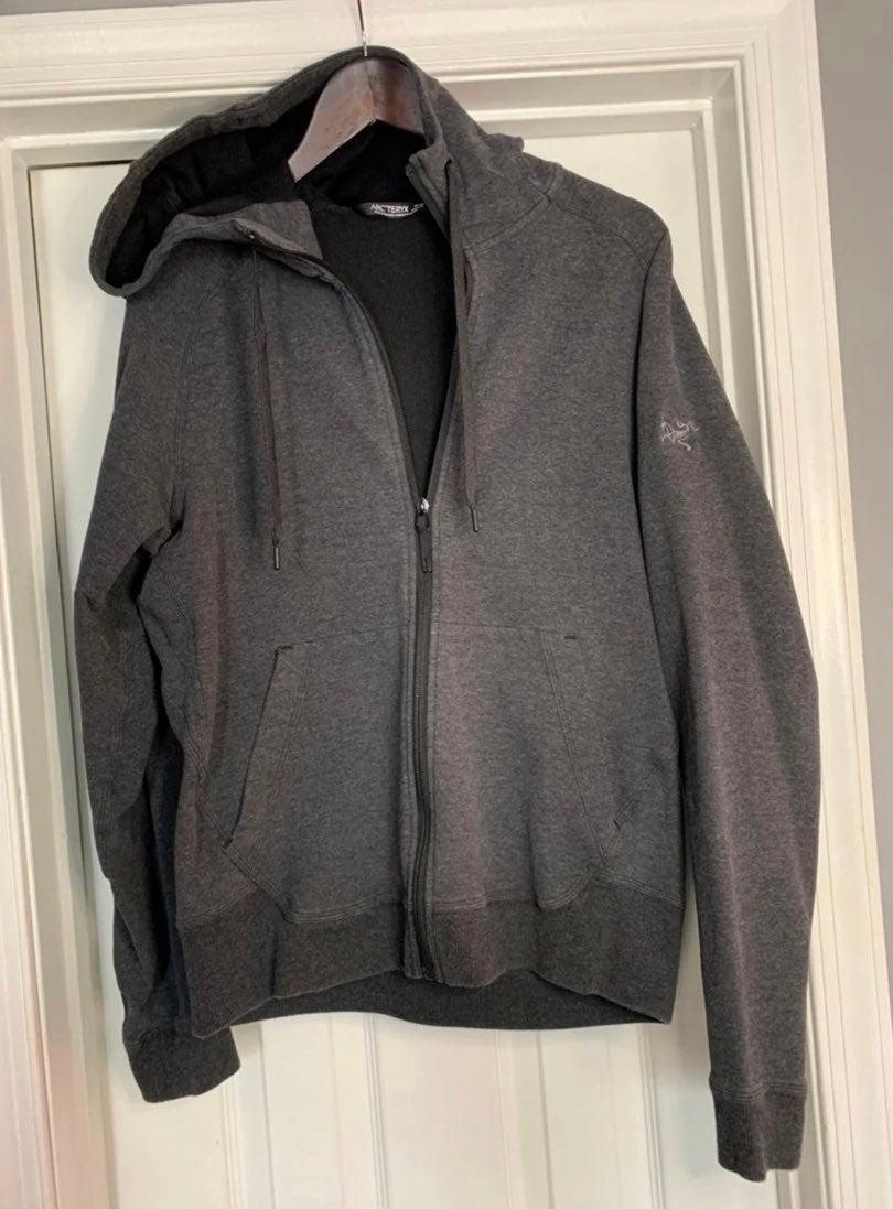 Arc'teryx Grey Hooded Zip-up Sweatshirt