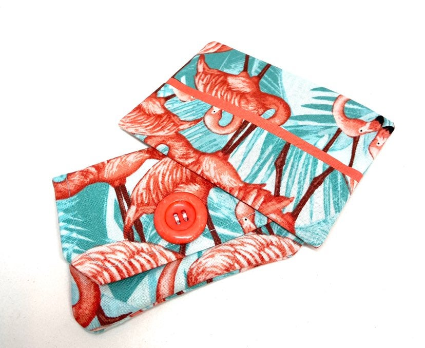 Flamingo Fabric Wallet Gift Set