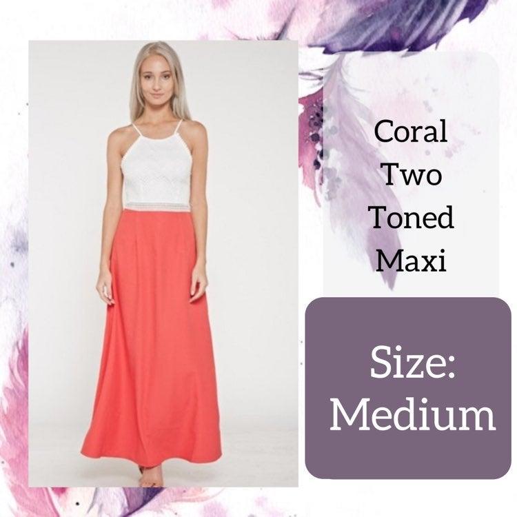 Medium Coral Two-Tone Maxi