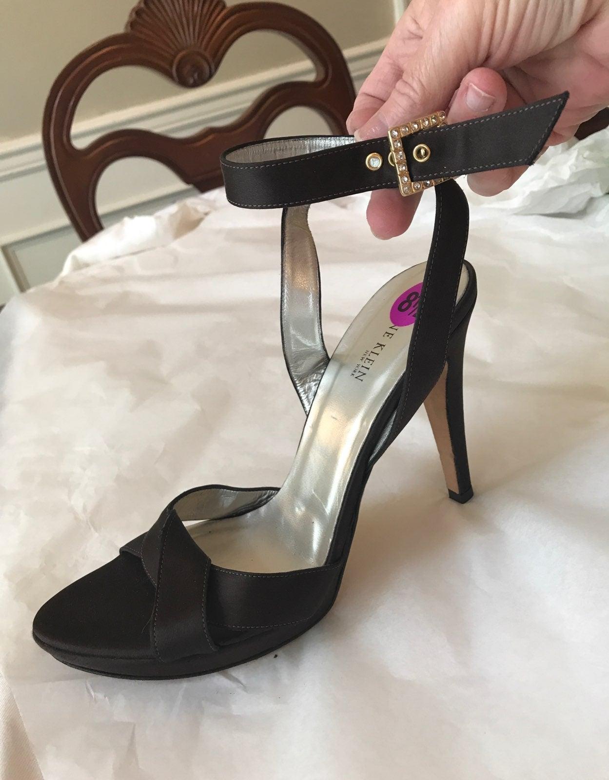 """Anne Klein BrownSatin Fabric 4""""Heels"""