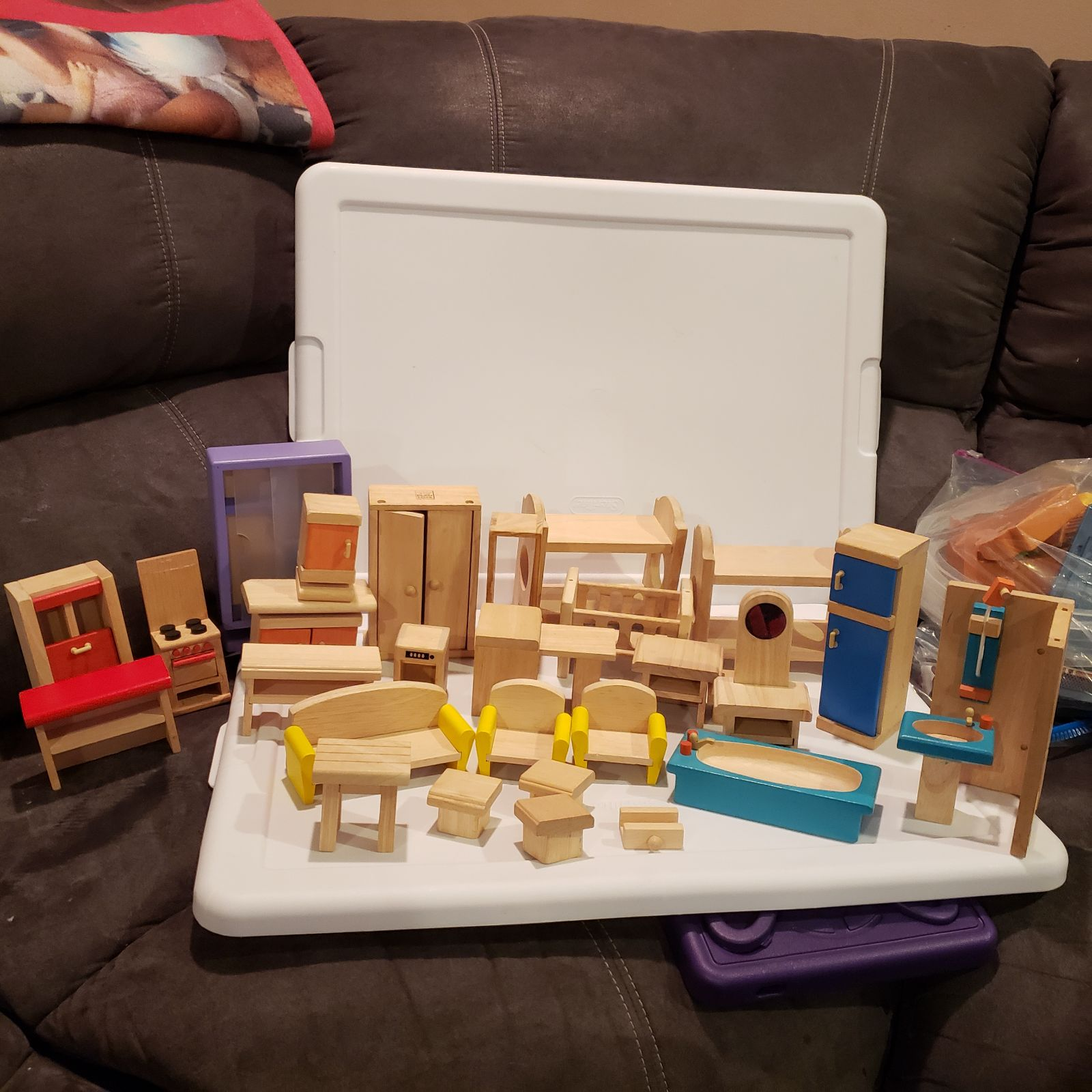 PlanToys Wooden Dollhouse Furniture