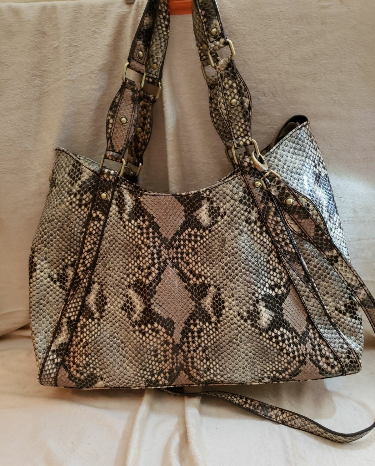 Gretta Faux Snakeskin Handbag