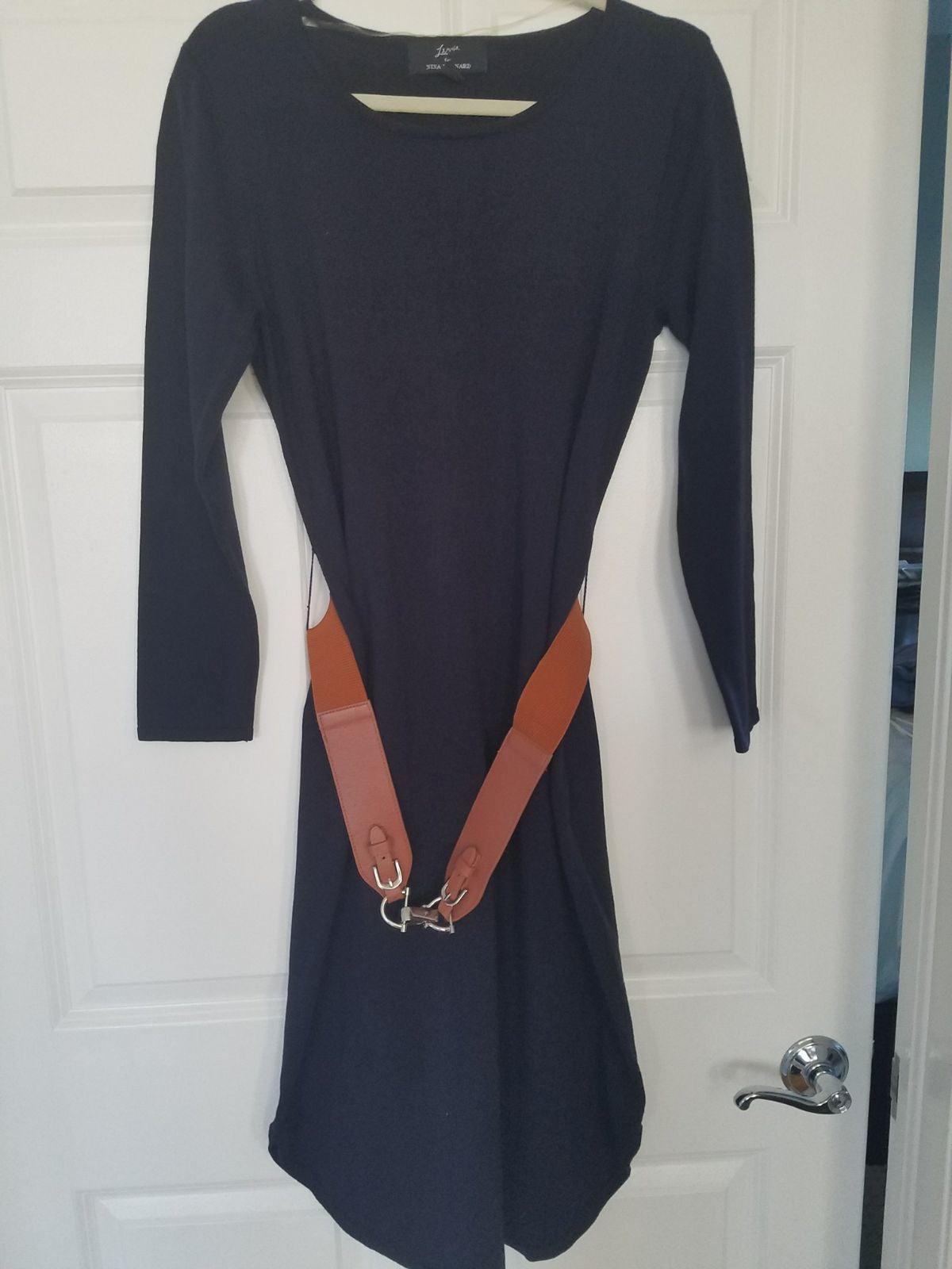 Sweater Dress, Nina Leonard label. Navy