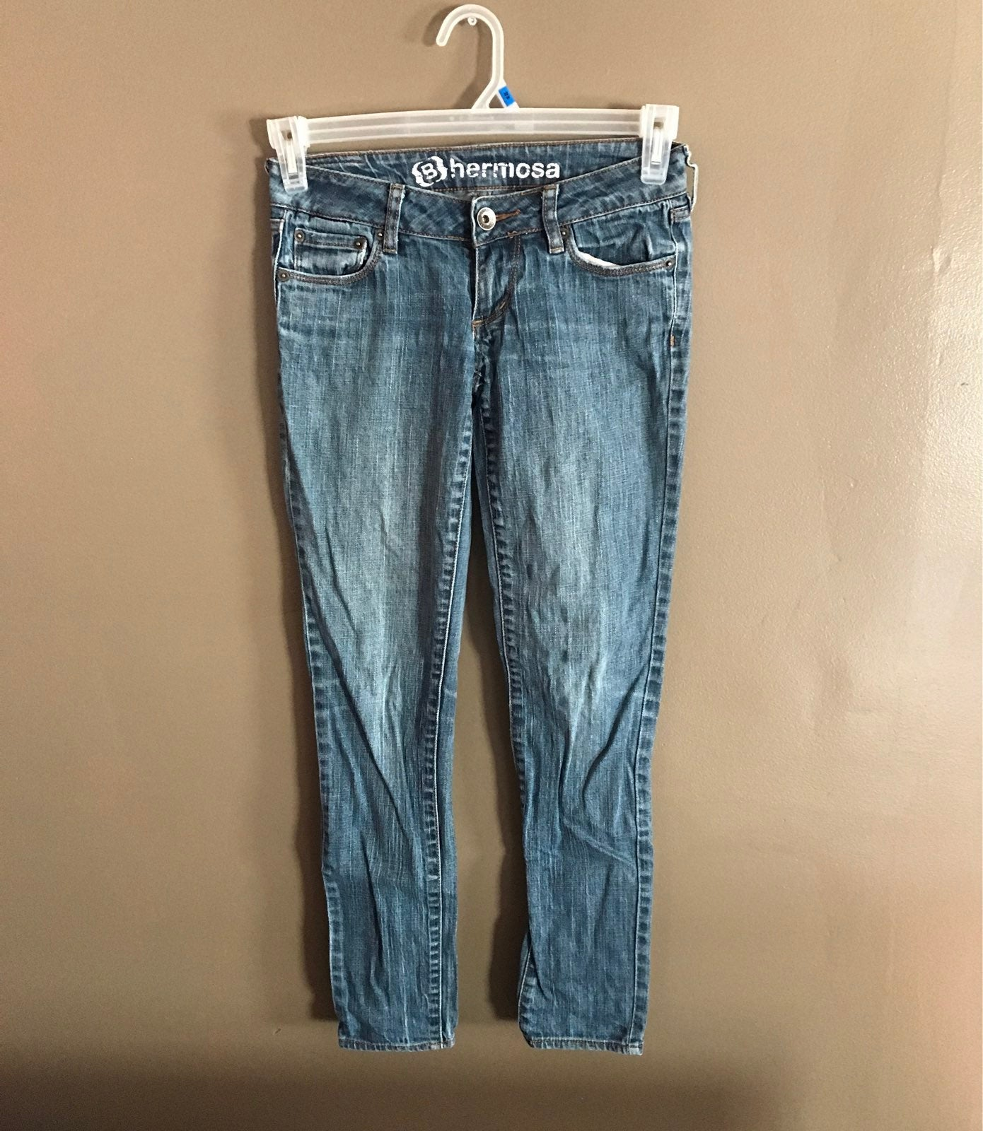 Bullhead Hermosa Super Skinny Blue Jeans