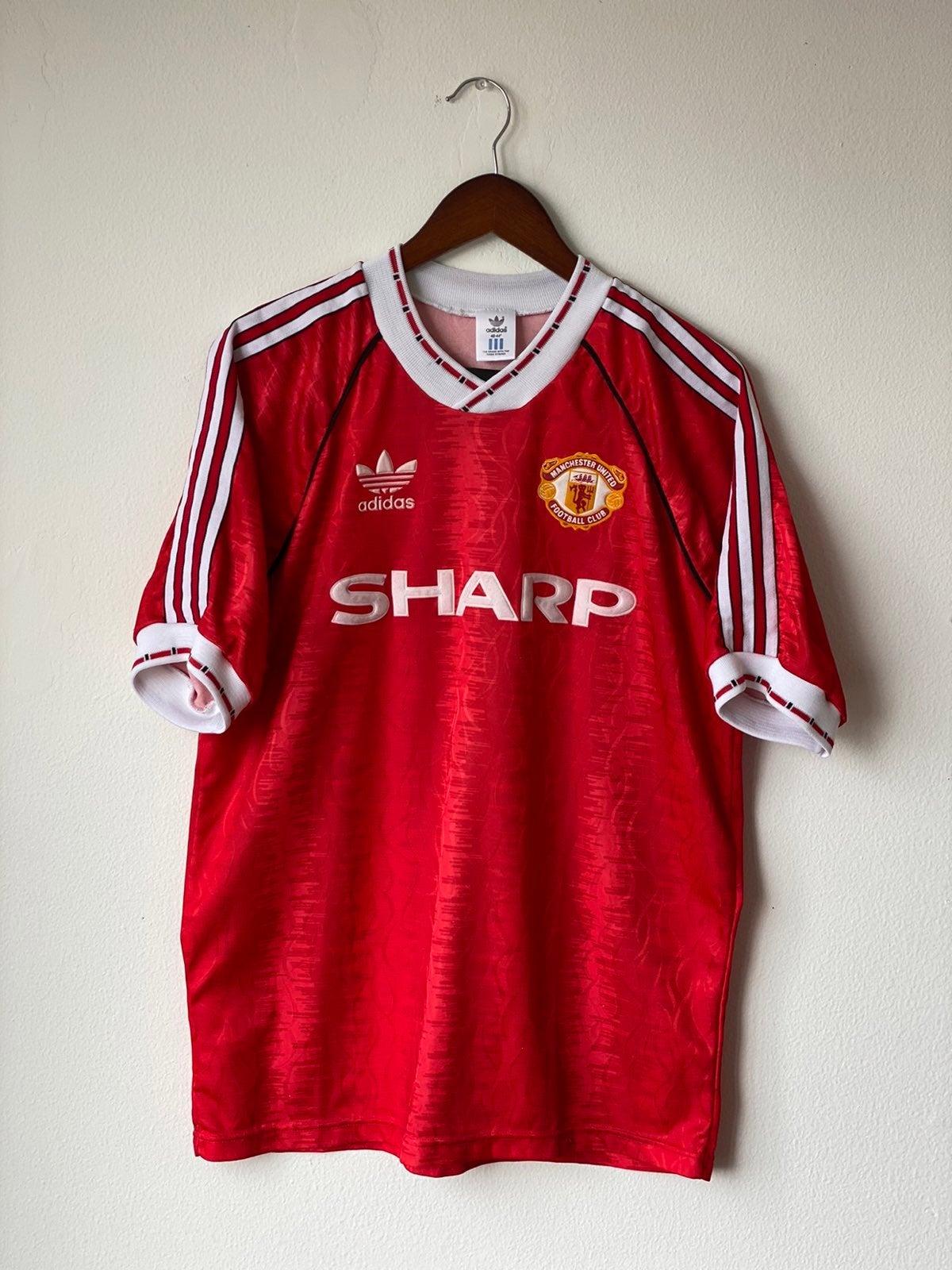 Vtg Adidas Manchester United Jersey Sz L