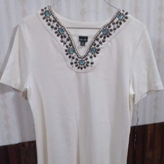 Rafaella Women's Pearl Short Sleeve Top
