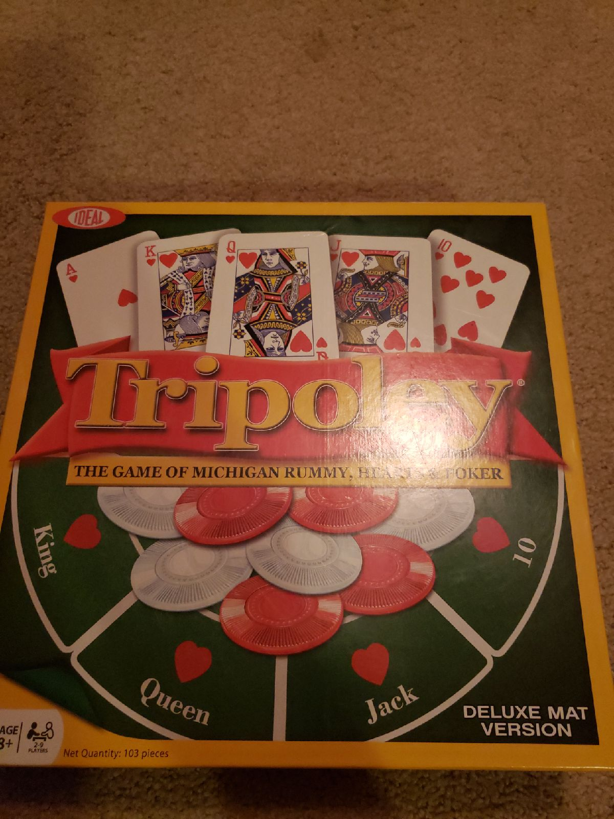 Tripoley- Rummy, Hearts And Poker