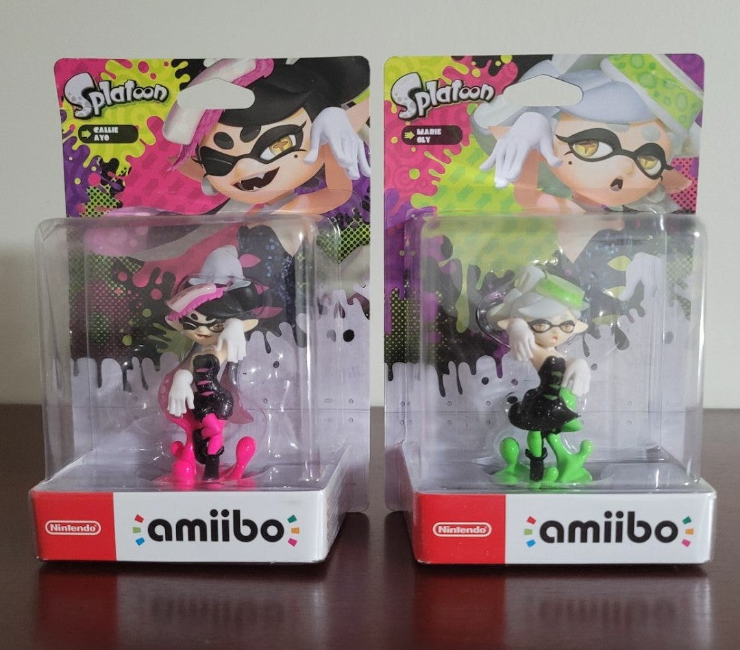 Callie and Marie Amiibo Splatoon 2 Set