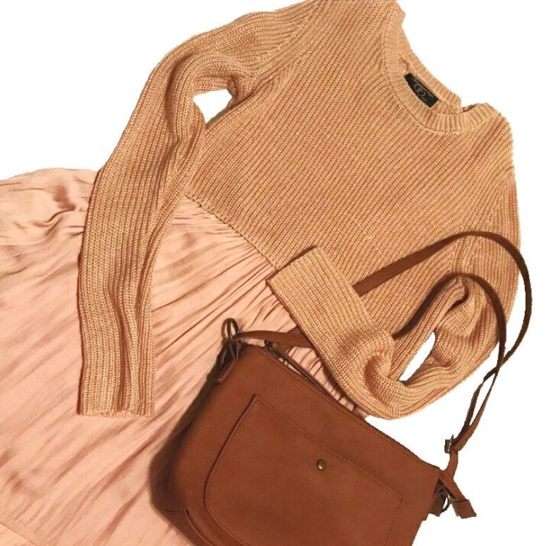 Knit Empire Waist Sweater Tunic Blouse