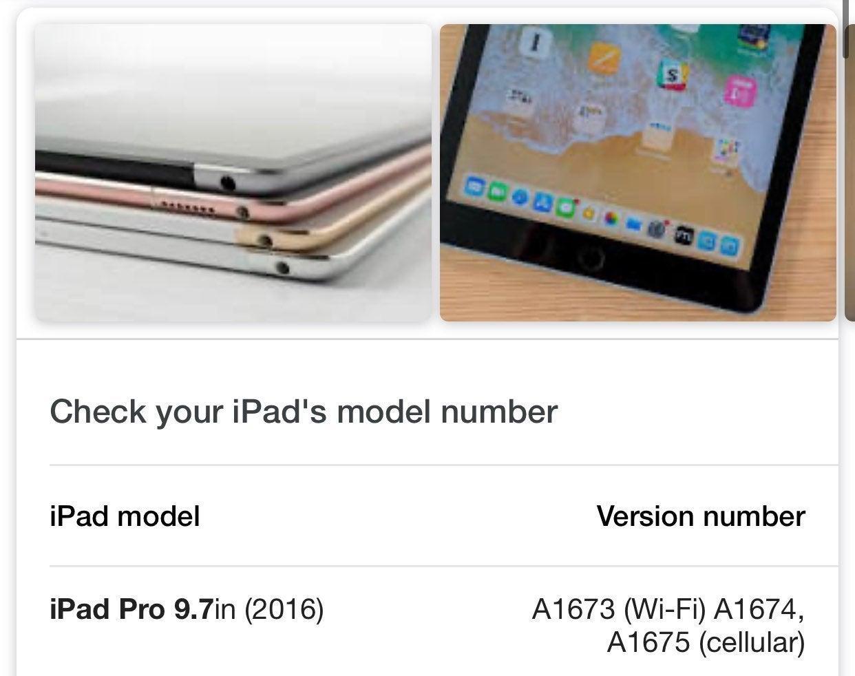 Ipod pro 9.7 apple
