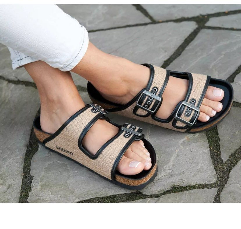 Birkenstock Arizona Jute Leather Sandal