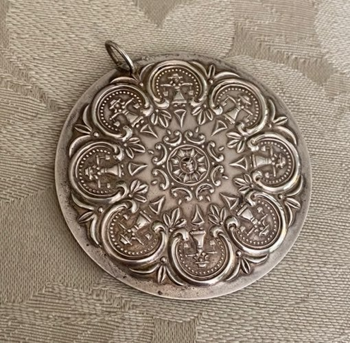 Towle Sterling Silver Medallion Pendant