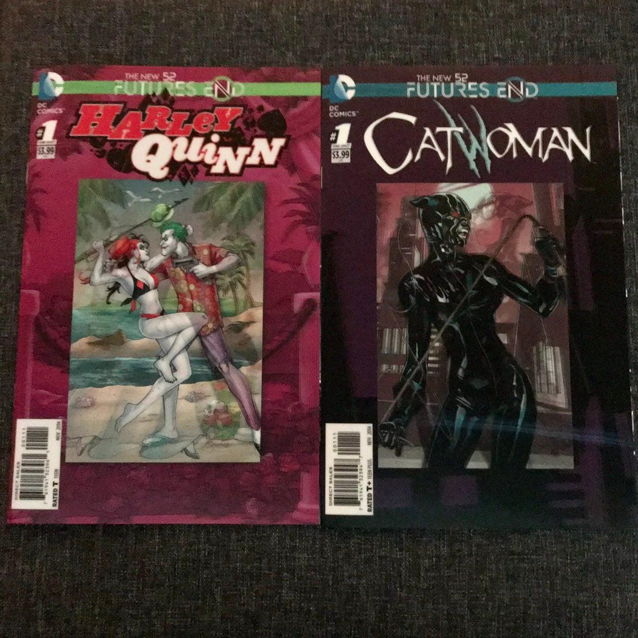 Catwoman & Harley Quinn comic bundle