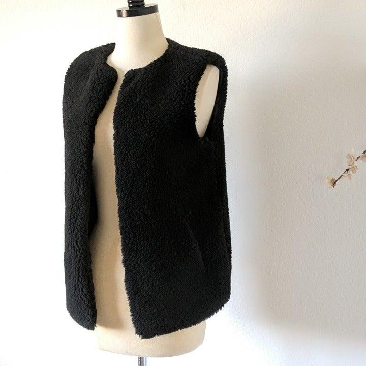 MADEWELL Faux Fur Sterling Vest Vegan Co