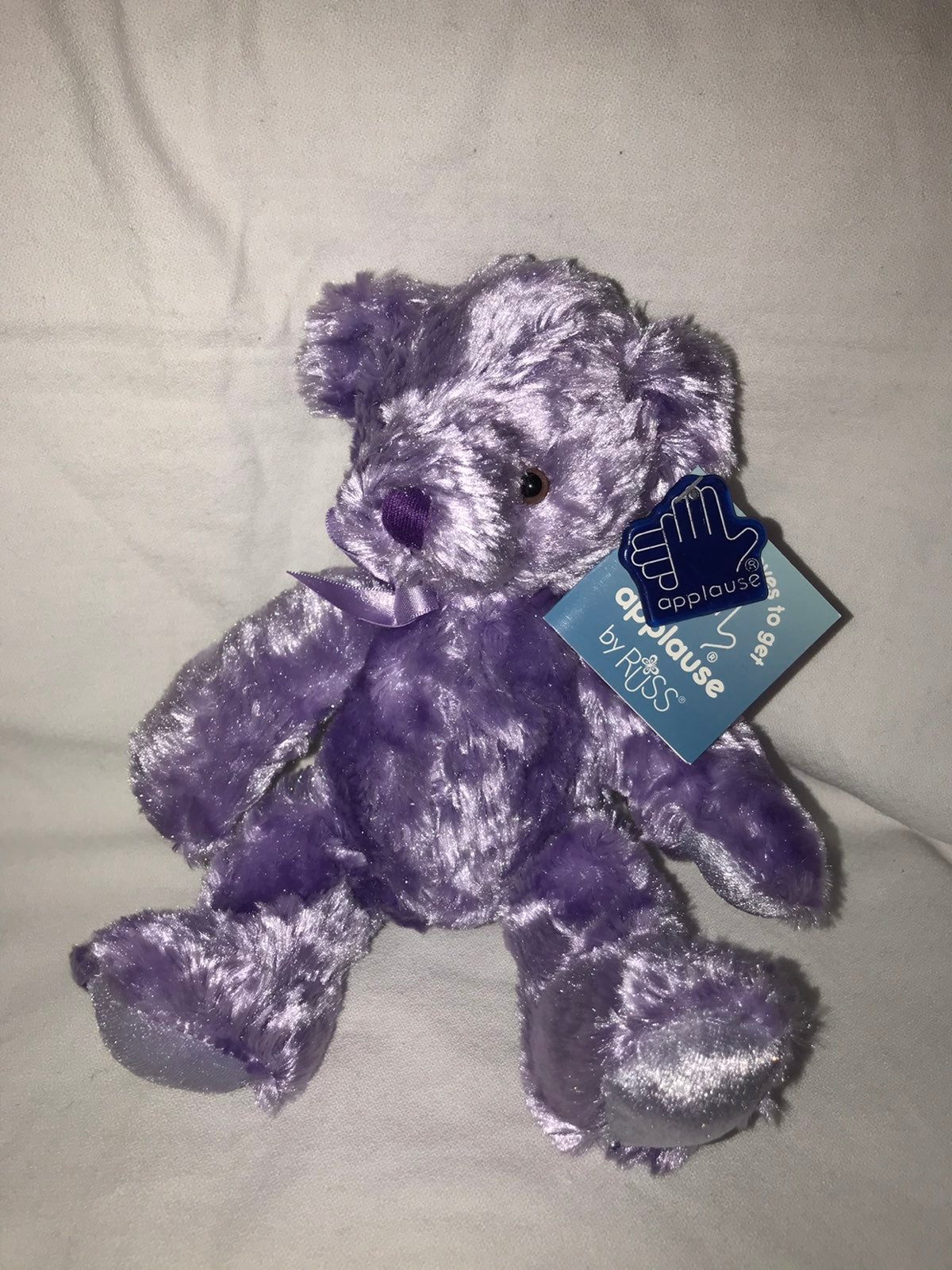 "Silky 6"" Russ Purple Teddy Bear"