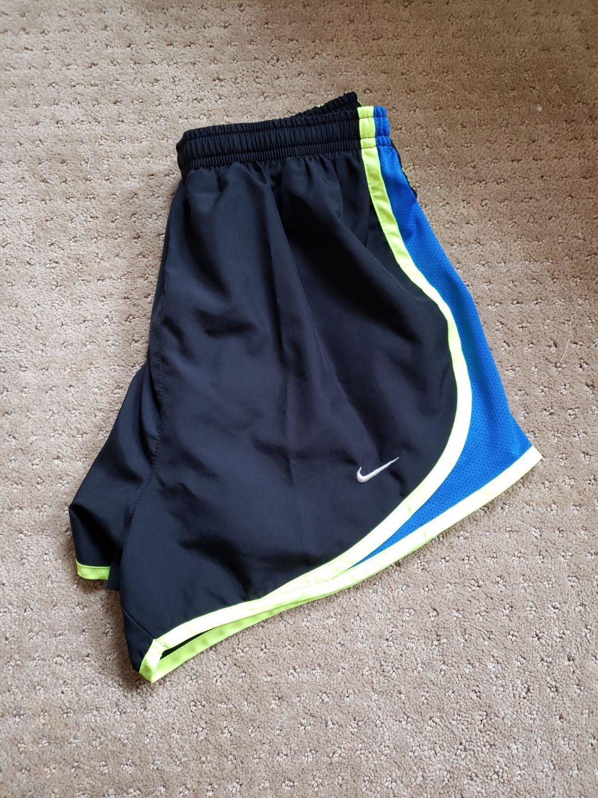 Nike womens running shorts black,blue, a