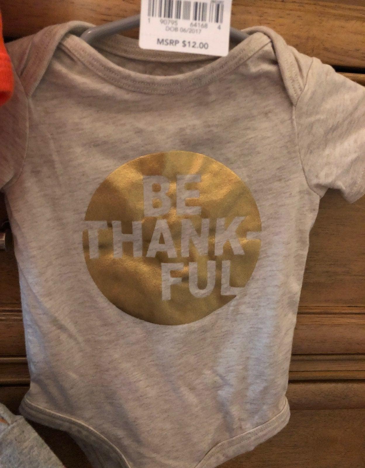 Baby Thanksgiving onesie
