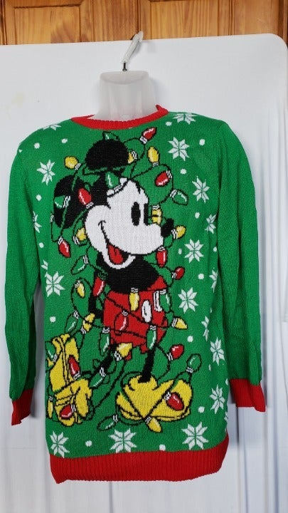 Disney Ugly Xmas Sweter Mickey 14/16