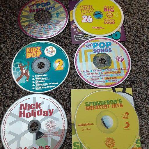 Kidz Bop, Nick Holiday & Spongebob CDs