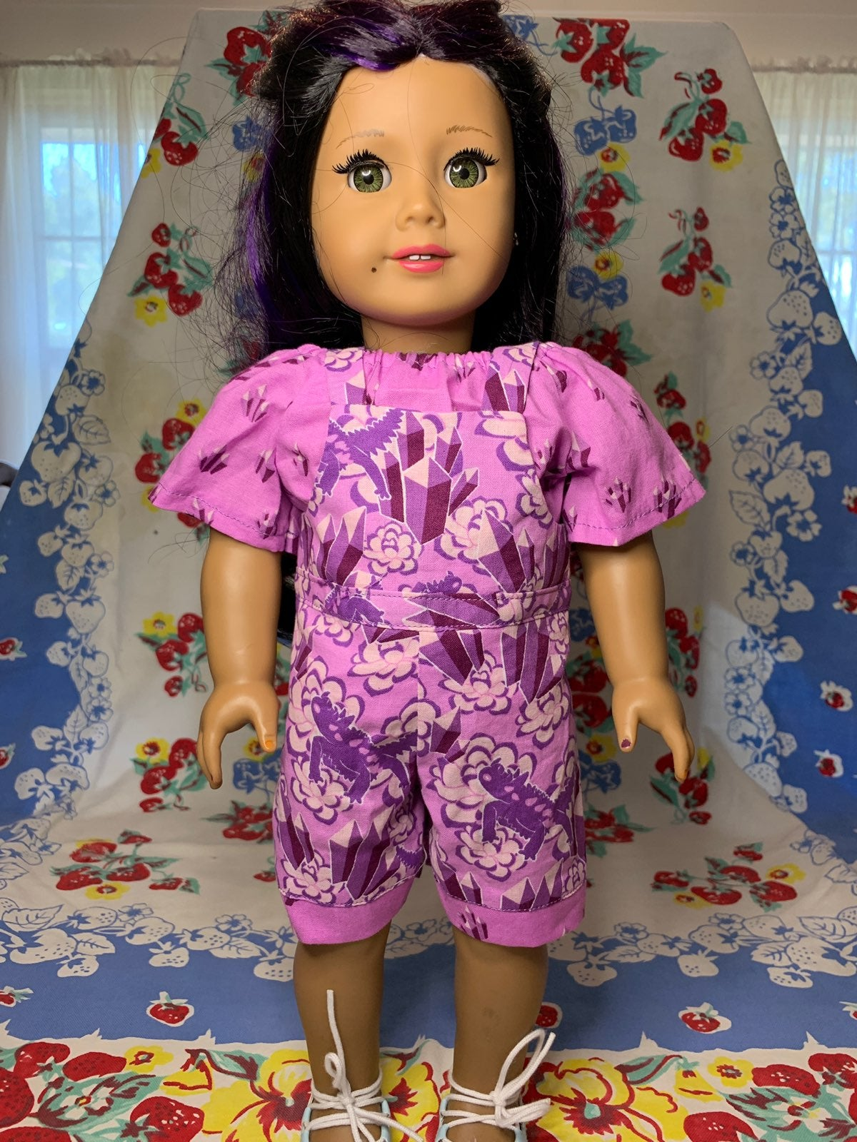 2 Piece 18 Inch Doll Outfit Overalls