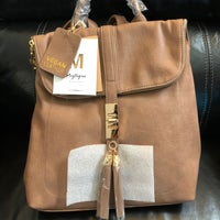 nice shoes official competitive price Miztique Taupe Backpack Vegan Leather