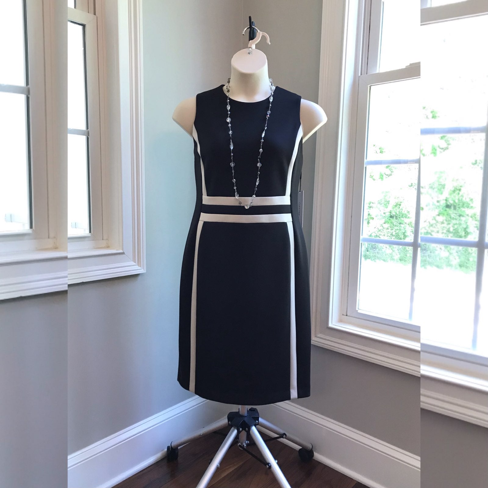 Calvin Klein Black Scuba Dress 14W NEW