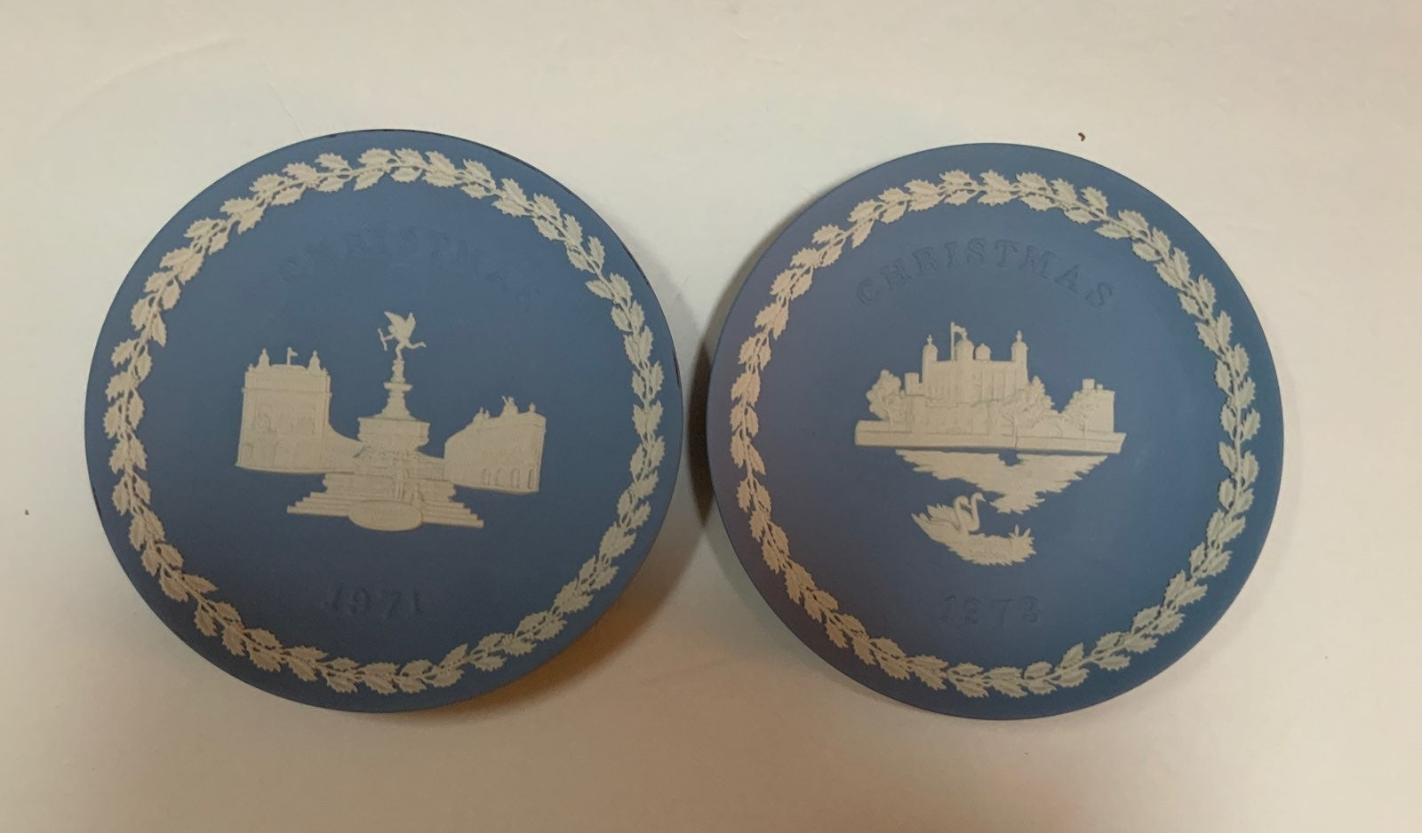 2 Wedgewood Christmas Plates '71 & '73