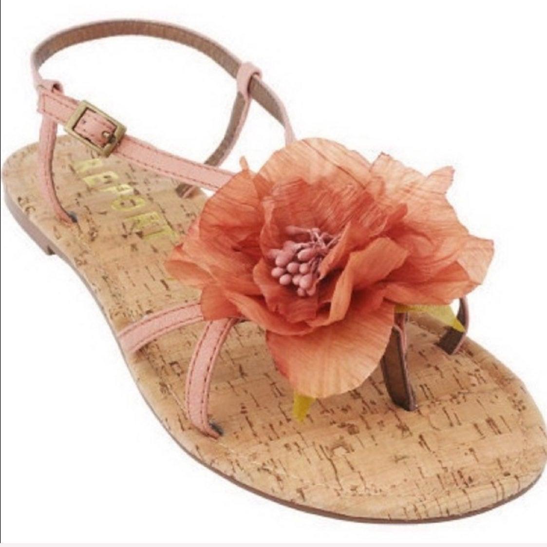 Report Pink Floral Flat Sandals