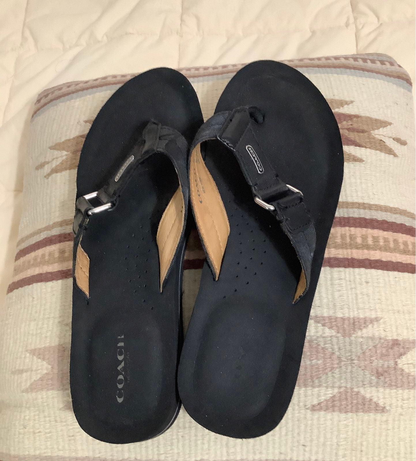 Coach flip flops sandals