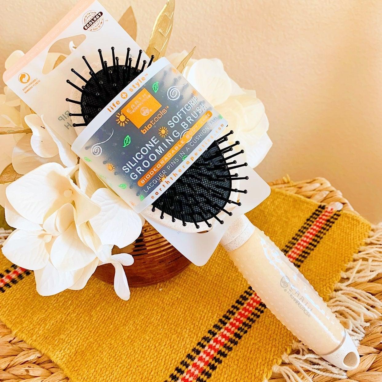 NEW White Silicon Hair Brush