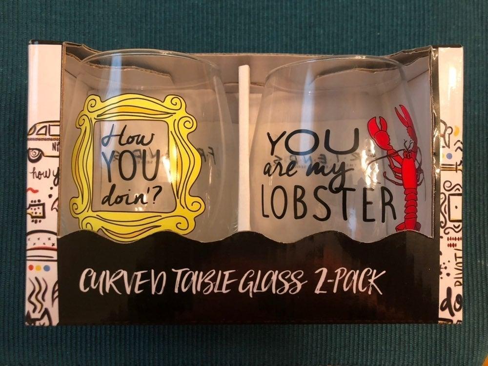 Friends TV Show Wine Glasses