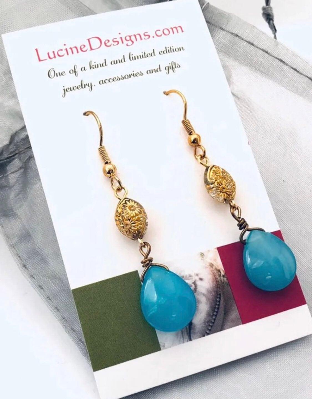 Blue Earrings - new
