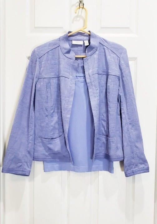NWT Chicos Lilac Purple Jacket & Tank