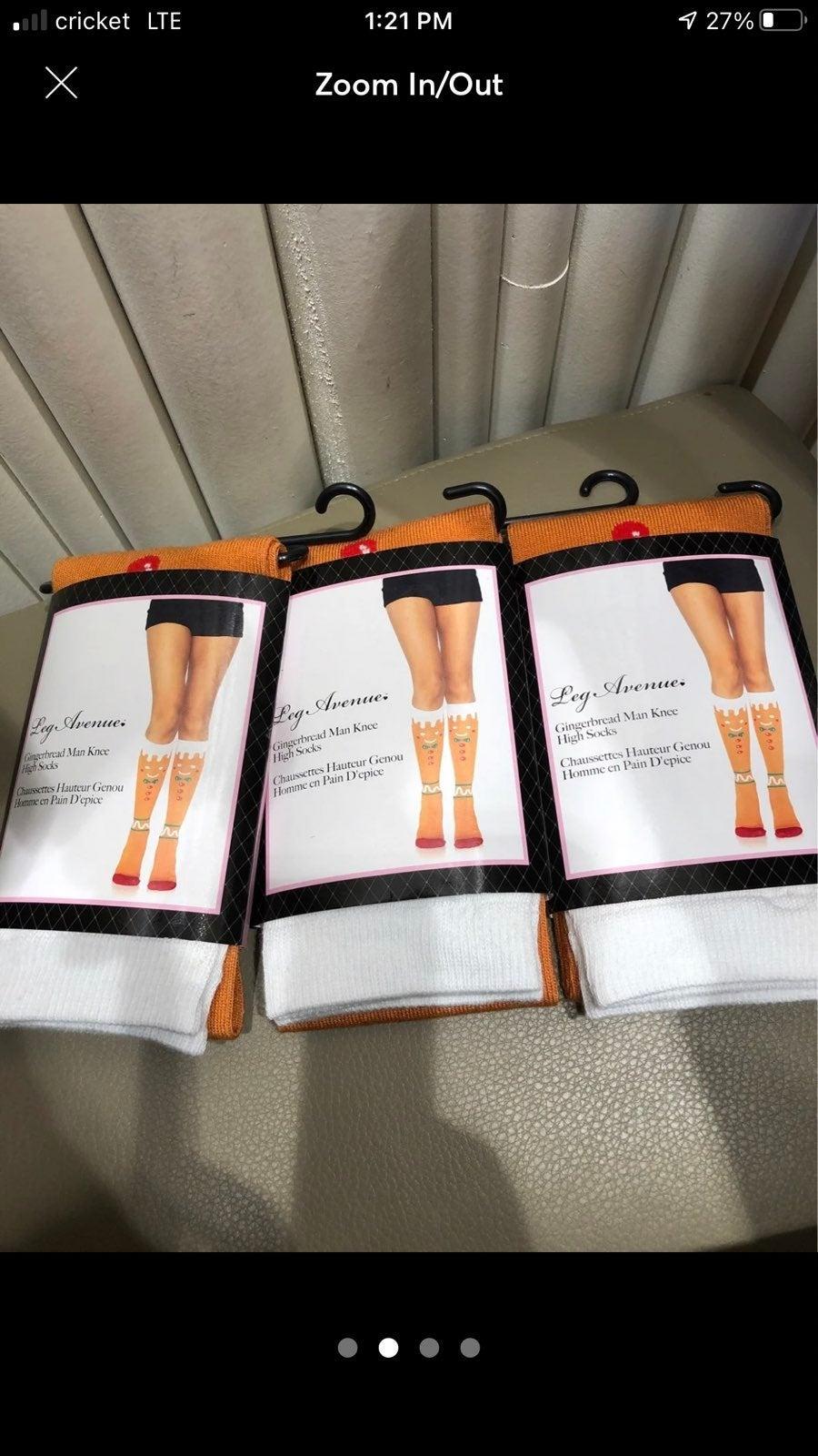 Gingerbread higt knee socks