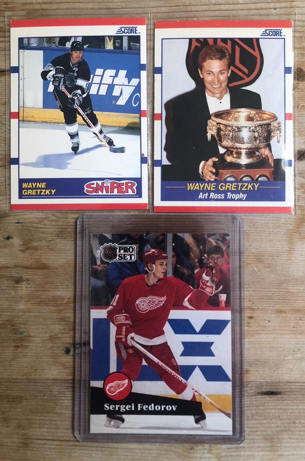 1990 Wayne Gretzky and 91 Federov rookie