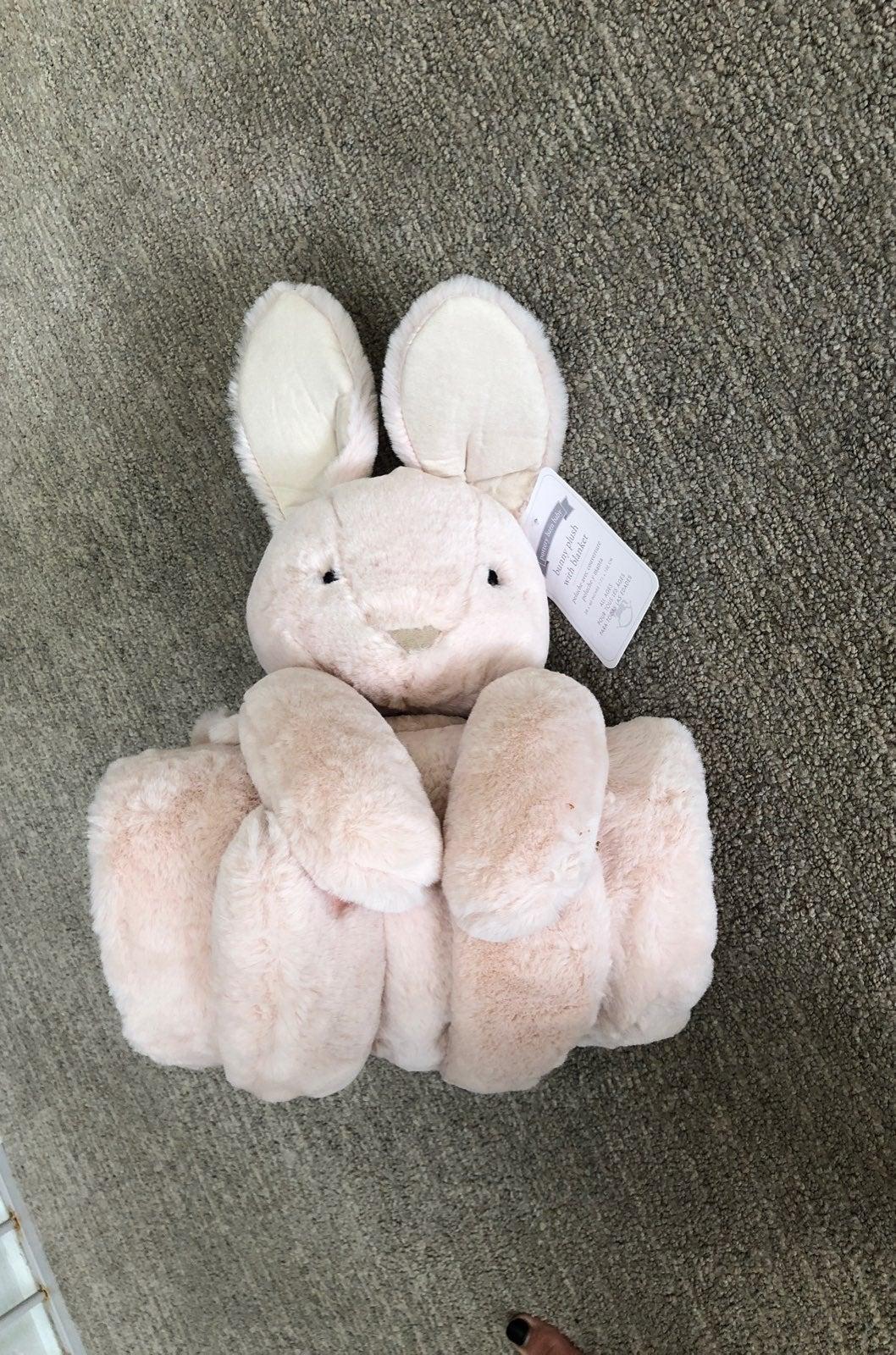 Pottery Barn Kids Plush Bunny with Blank