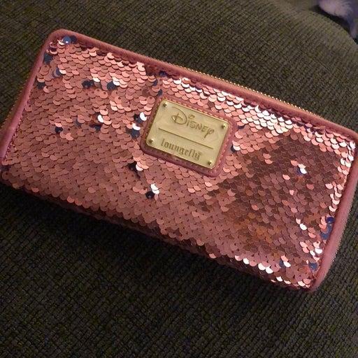 Loungefly sleeping beauty sequin wallet