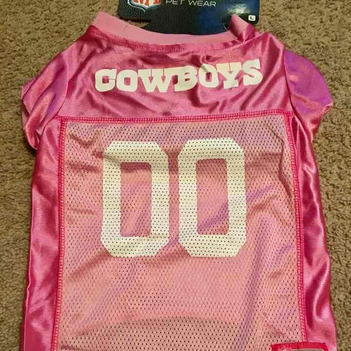 Dallas Cowboys NFL Dog Pink Jersey L