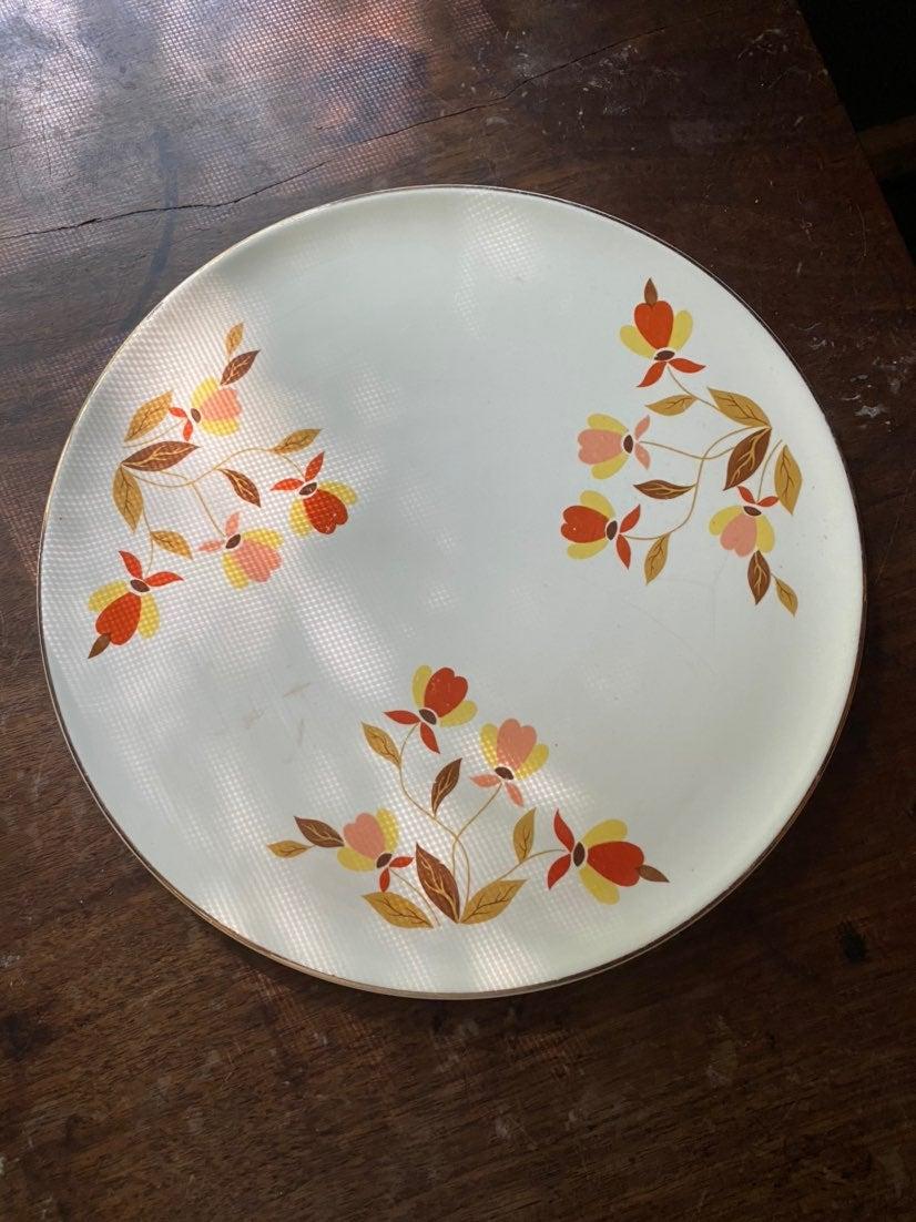 Jewel Tea Autumn Leaves Cake Plate