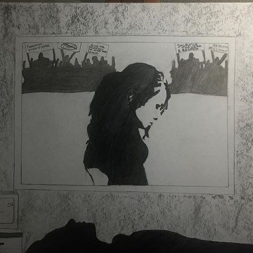 Art charcoal drawing