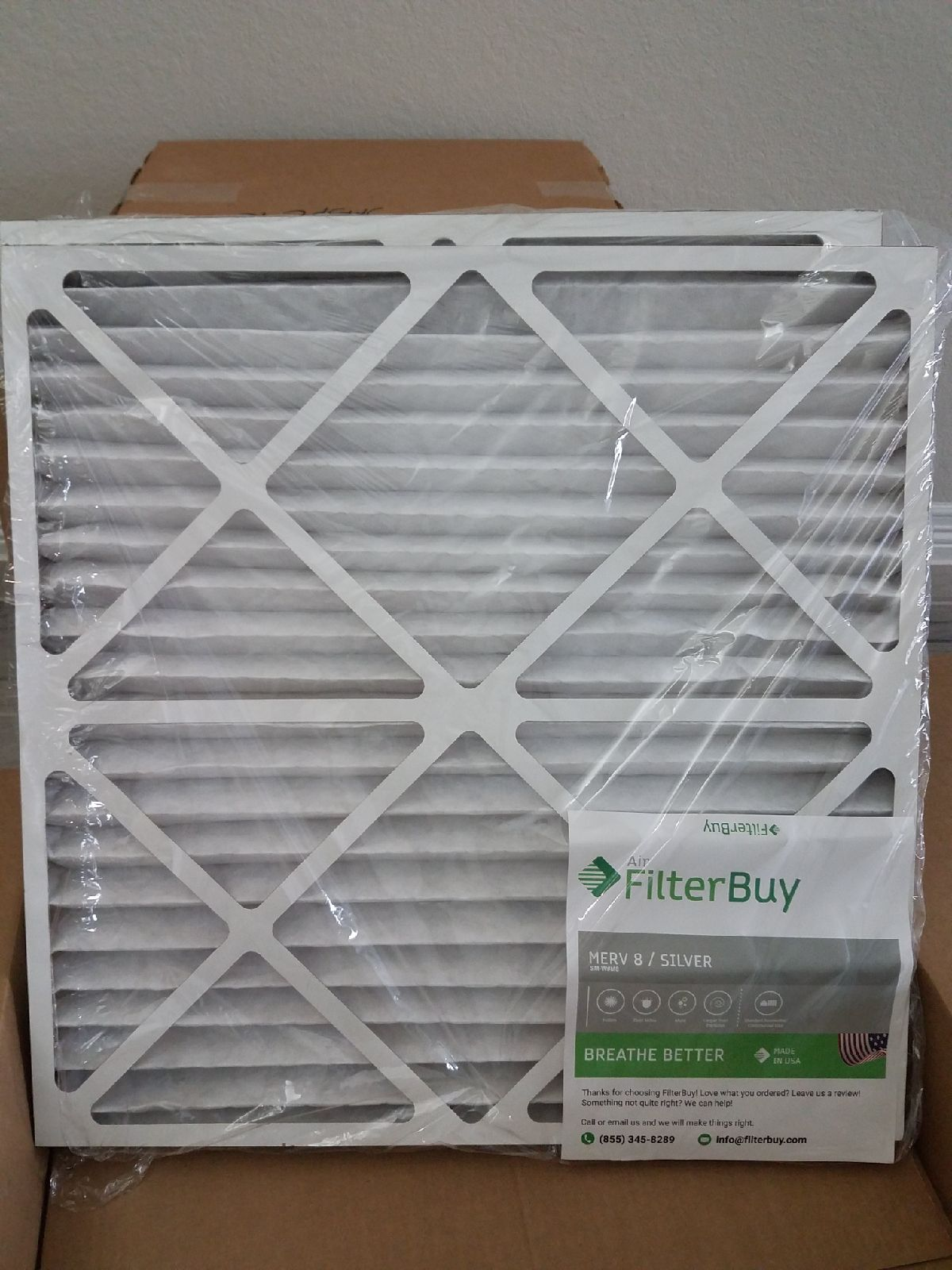 Air Filters, FilterBuy Silver, 25x25x2