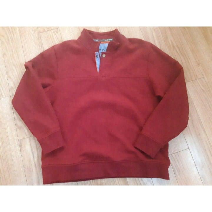 Orvis Pullover Sweater Fleece 1/4 Zip Lg